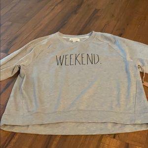 - Rae dunn grey weekend sweatshirt